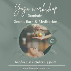 This workshop will celebrate the time half way between the Autumn Equinox and Winter Solstice, marking the end of harvest time, and welcoming in the darker winter months. It's a time for thanksgiving, of death and rebirth; a time to reflect, give thanks, recharge and renew. Our focus for this workshop will be creating more balance in our lives, working with Yoga techniques and breathing practices that encourage us to become grounded in our bodies, helping to calm the nervous system to promote a deeper, healing sleep. We will combine carefully crafted flowing asana and breath work with deep restorative poses to unwind the body (from the inside out), release deep rooted tensions, relax the mind and invite us to fully let go. In the Ayurvedic world, Autumn is a very vata season and we need to slow things down, take our time to move and breathe and live. Creating simple rituals and routines can be really helpful at this time of year and this workshop will provide you with some simple tools you can take away to use at home in your own practice. It will provide us with a welcoming space in which to take some time out of our busy lives to breathe, relax, nurture, ground and balance ourselves. - Revitalising essential oils and warm chai and chat will deal off our practice. The workshop is suitable for women of all ages and stages of life, including complete beginners to yoga. Some lovely treats will be provided at the end of our session and we will wrap up with a long deep restful Yoga Nidra practice.